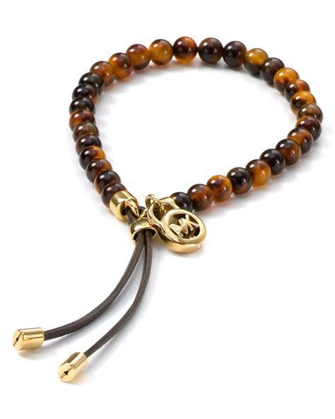 michael kors beaded bracelet michael kors tortoise shell beaded bracelet bracelets