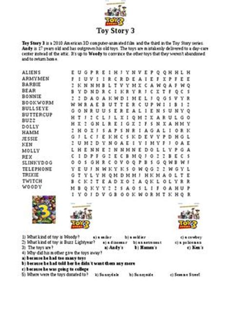 toy story printable activity sheets toy story 3 worksheet by ayaranis suarez issuu