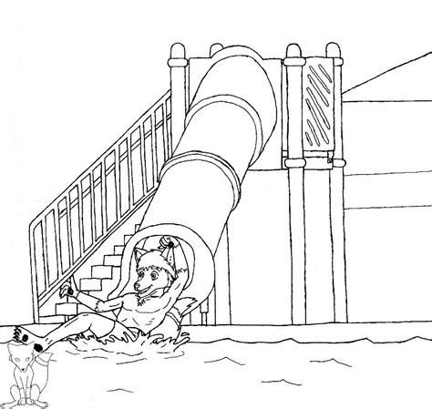 coloring pages of water slides water slide coloring pages az coloring pages