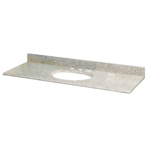 61 In Vanity Top by Pegasus 61 Inch W X 22 Inch D Granite Vanity Top In Beige