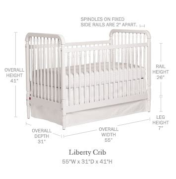 Size Of Standard Crib by Liberty Crib Cribs Mattresses Serena And