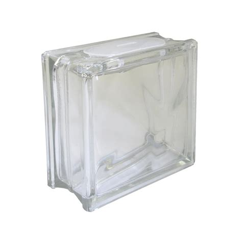 decorative glass block arts crafts glass block smooth rounded edges subtle wave
