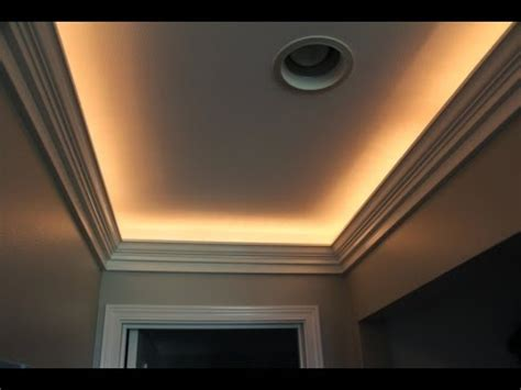 installing crown molding with led lighting diy a dropped ceiling light box funnycat tv