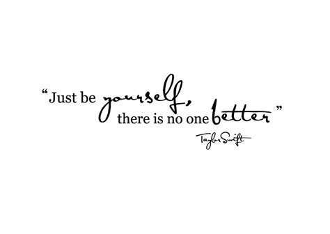 Wall Sticker Lyrics just be yourself quotes quotesgram