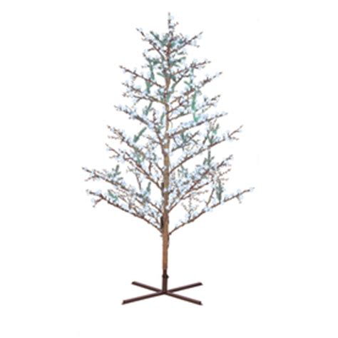 lowes led trees ge 8 ft indoor outdoor winterberry pre lit artificial tree with white led lights