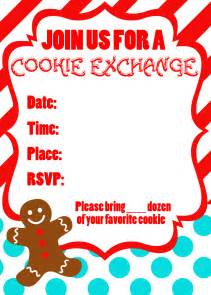 Cookie Exchange Recipe Card Template by Cookie Exchange Recipe Card Template Food Fox