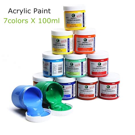 acrylic paint for marley 7 colors 100ml acrylic paints set color nail