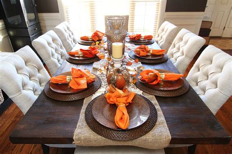 The candles and vases will stay while the pumpkins and fall foliage