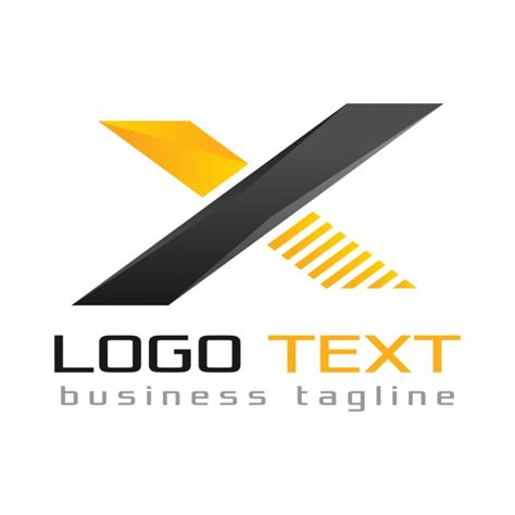 Auto Logo 3 Letters by Letter X Logo Black And Yellow Colors Vector Free