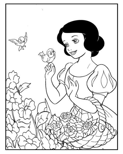 snow princess coloring page printable snow white coloring pages princess coloring