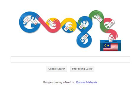 malaysia day doodle malaysia election day 2013 get its own doodle