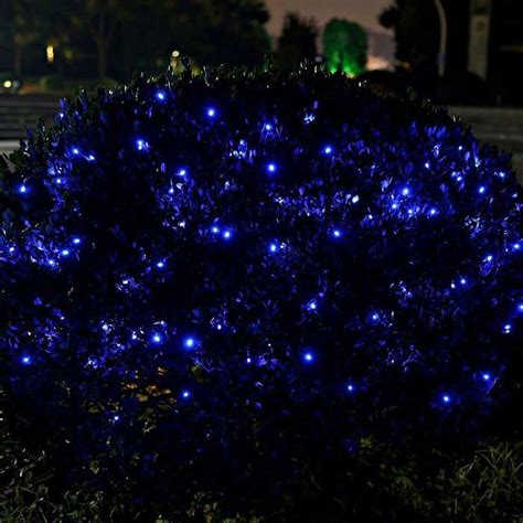 solar powered twinkle lights solar powered decorative twinkle led light string blue
