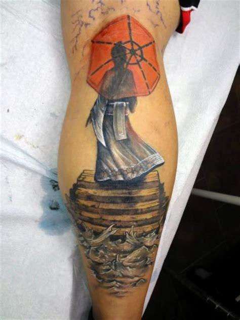 geisha tattoo calf calf japanese geisha tattoo by insight studios