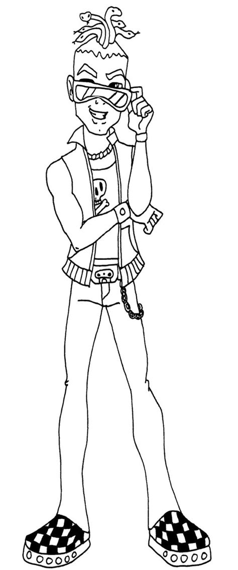 monster high deuce gorgon coloring pages 17 best images about monster high coloring pages on