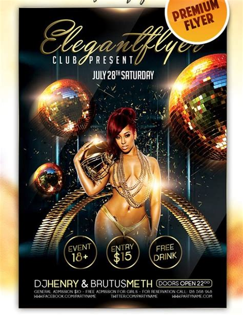 free club flyer templates psd download for youtube