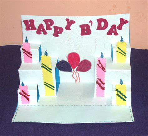 Handmade Pop Up Card - best designs if handmade pop up birthday cards