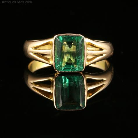 antiques atlas antique 2 8ct emerald gold ring