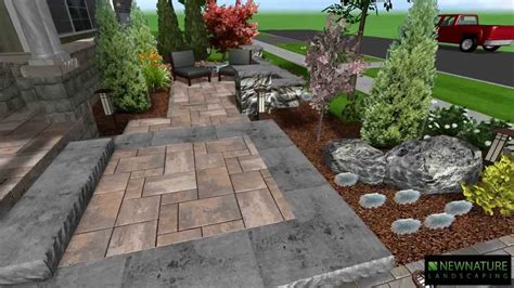Front Patio Design by New Nature Landscaping Front Patio Design
