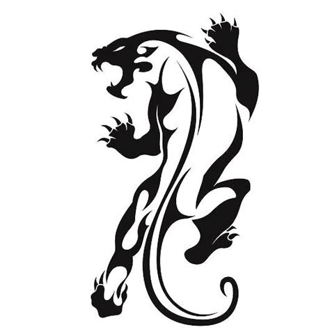 crawling tribal panter tattoo design