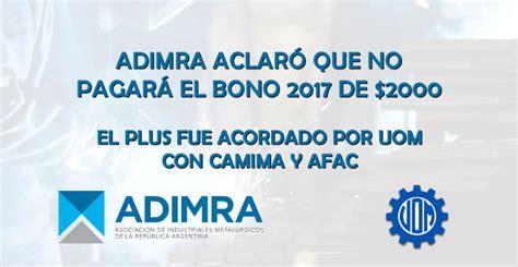 anses pago del bono de 400 pesos por correo argentino a 191 qu 233 trabajadores de la uom no cobran bono 2017 de 2000