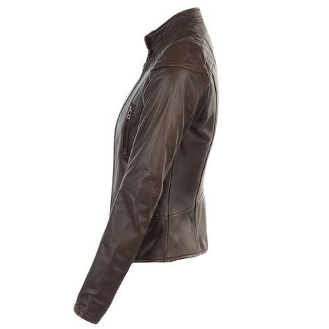 womens brown leather motorcycle womens leather biker jacket brown kasmira