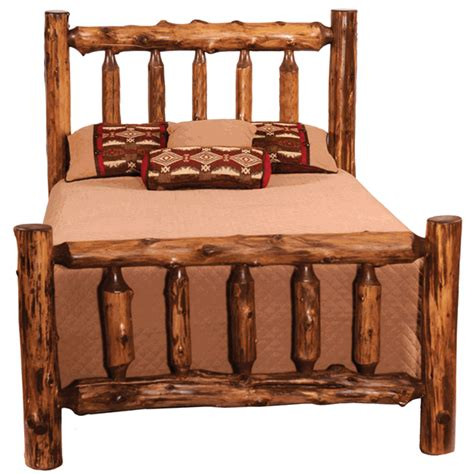 king size log bed rustic beds king size vintage cedar log complete bed