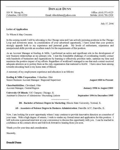 job application letter template