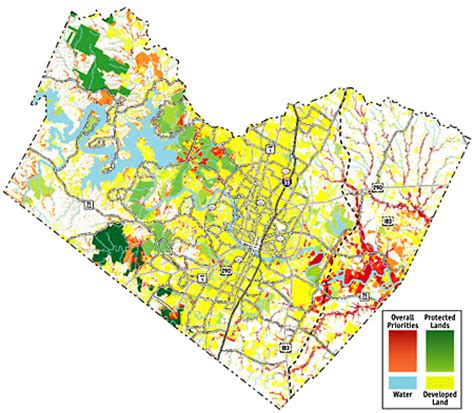 map of travis county how green grows my county greenprints aim to protect