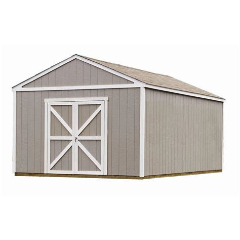 building with storage handy home products columbia 12 ft x 20 ft wood storage
