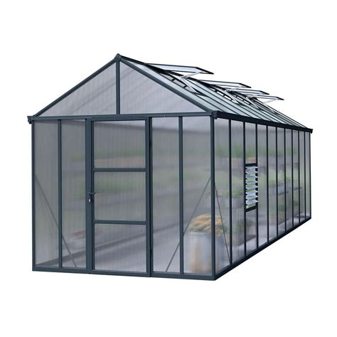 palram 8 x 20 anthracite greenhouse next day