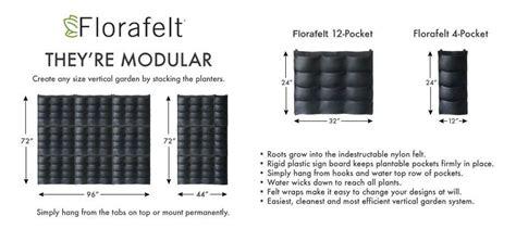 florafelt 174 compact vertical garden kit garden planters