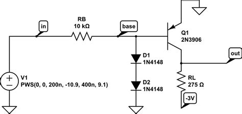 pnp transistor as switch circuit pnp transistor switching time puzzler electrical engineering stack exchange