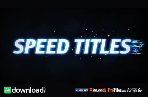 title templates for after effects free speed titles videohive project free download free