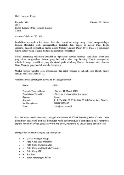 Contoh Surat Lamaran Kerja Cpns Kejaksaan 2017 by Contoh Surat Lamaran Kerja Kejaksaan Agung 2017