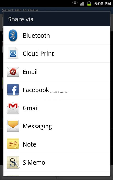 share email how to share android apps via bluetooth email facebook or