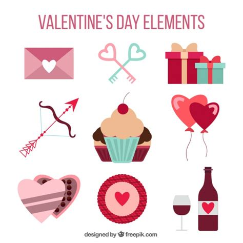 free vector valentines day day elements set vector free