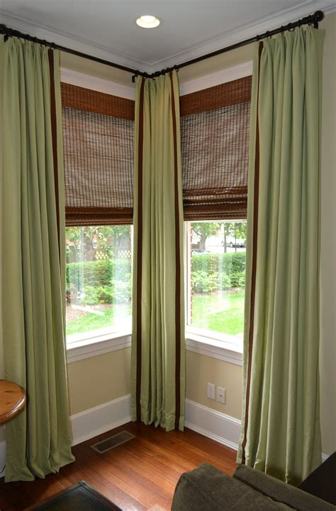 Curtains Corner Windows Ideas Corner Window Curtain Rods Home Design Ideas