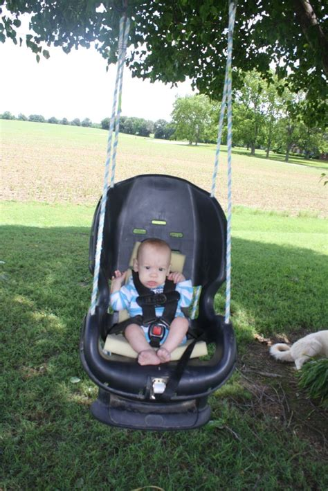 baby car swing infant swing made out of an old carseat crafts