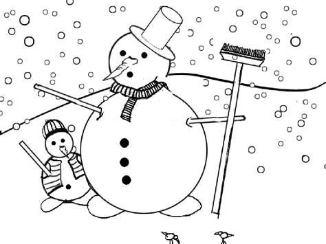 imagenes para colorear winter navidad muneco de nieve dibujos para colorear