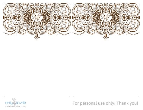 free printable blank wedding invitations templates