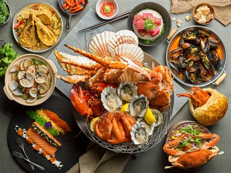 seafood buffet at the hooked edge seafood buffet offers news dishes gratenews