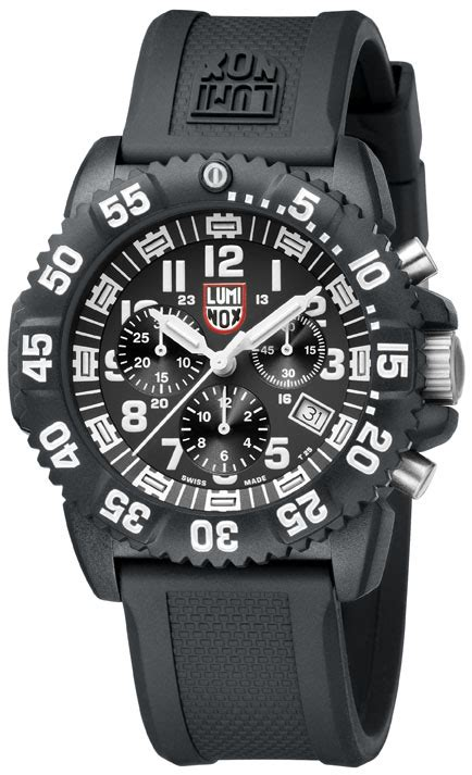 Luminox Black Shoot luminox 3081 colormark chronograph series white