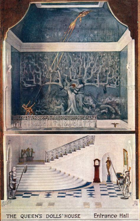 queens dolls house entrance hall the queens dolls house postcards raphael