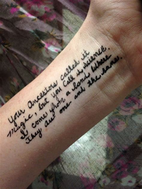 wrist word tattoo thor quote word wrist simple