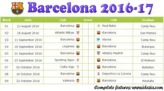 Gambia Kalender 2018 Fc Barcelona Fixtures Results 2016 2017 Cavpo
