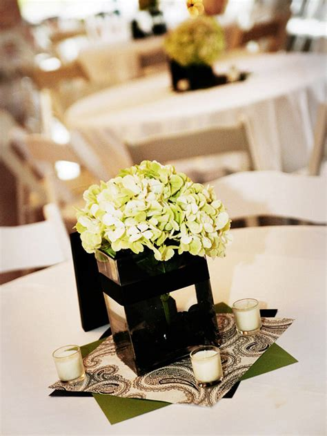 Real Weddings A Modern Twist On Elegance More Easy To Make Wedding Centerpieces