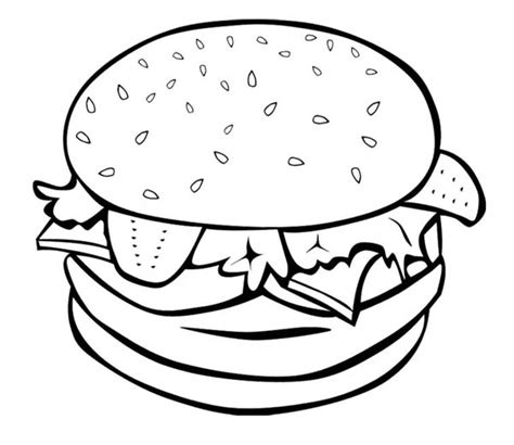 burger king coloring pages the big burger for junk food coloring page download
