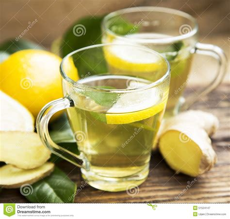 Detox Green Tea Lemon by Green Tea With Lemon Stock Photo Image 51524147