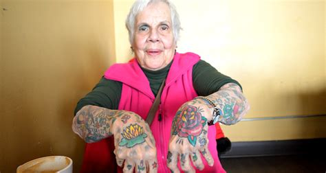 old woman with tattoos badass 81 year tattooed movin 92 5 seattle s