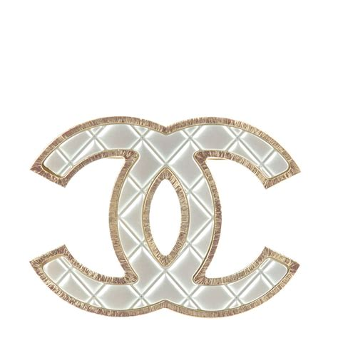 Metal Brooch chanel metal quilted cc brooch silver gold 142160
